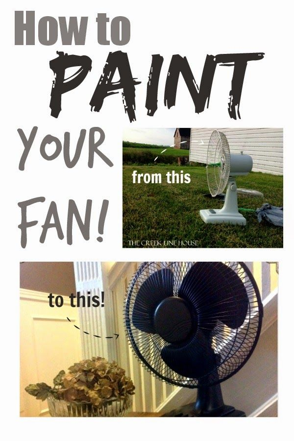 Give your tired old white plastic fan a stylish new look with paint! Step-by-step instructions!
