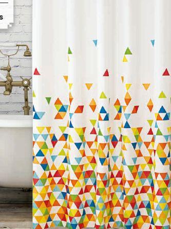 Geometrikus Minták zuhanyfüggöny