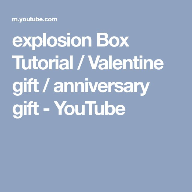 explosion Box Tutorial / Valentine gift / anniversary gift - YouTube