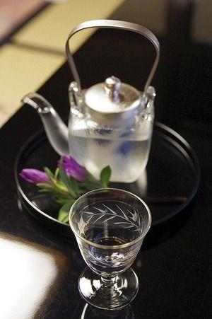 冷酒いかがですか?冷たくってほろ酔いに☆ 日本酒と焼酎の酒写真日記