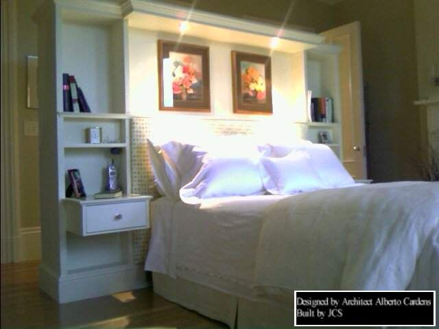 built in headboard with lights the rear side of this headboard. Black Bedroom Furniture Sets. Home Design Ideas