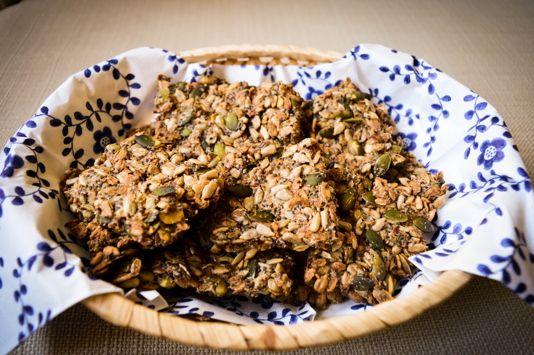 Chia seeds crackers
