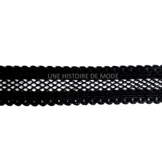 1M de ruban élastique résille noir - 16 mm de largeur - ruban dentelle stretch : Rubans par une-histoire-de-mode