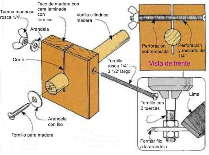 Modo f cil de hacer un gramil pinterest - Como hacer un banco de madera ...