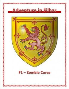 F1 - Zombie Curse is a free role playing game supplement published by Adventures in Filbar. #RPG