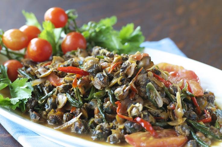 Indonesian Medan Food: Tauco Kerang ( Cockles in Fermented Soy Bean)