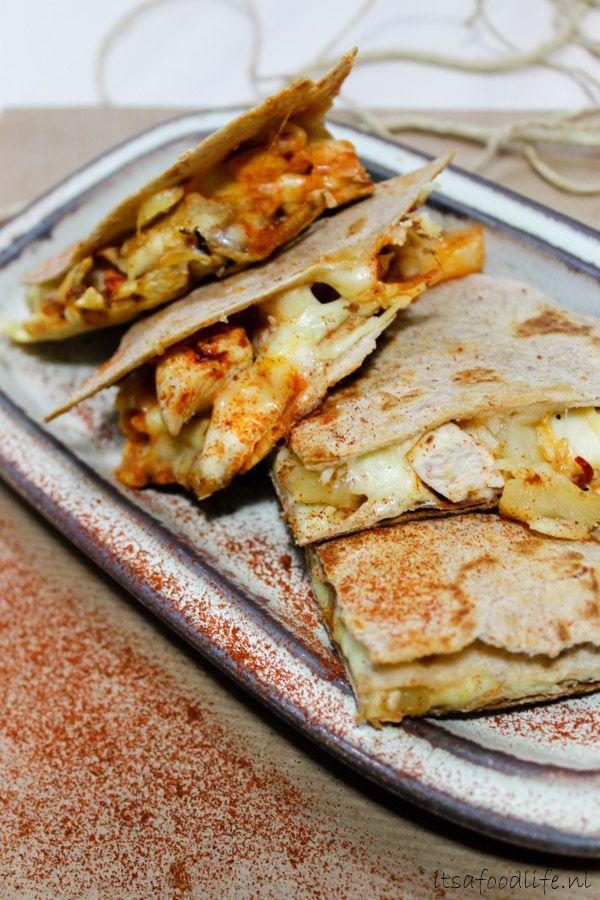 3 recepten voor quesadillas met kip en gegrilde ananas | It's a Food Life