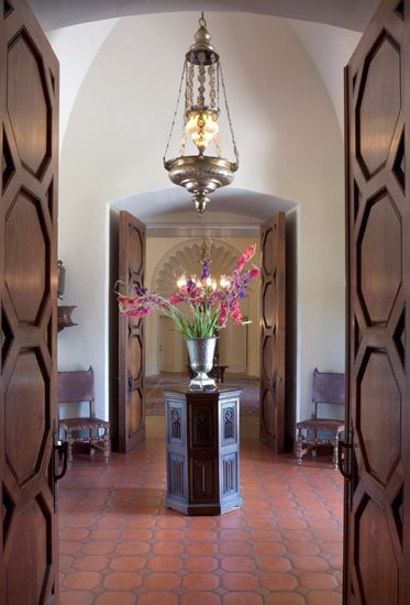 Hacienda Style Is All About Heavy Wooden Doors And Furniture And Awesome  Light Fixtures.