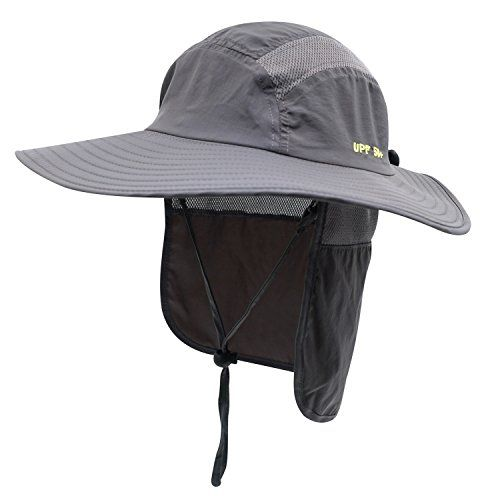 e4327a6f94a5f Home Prefer Adult UPF 50+ Sun Protection Cap Wide Brim Fishing Hat with Neck  Flap