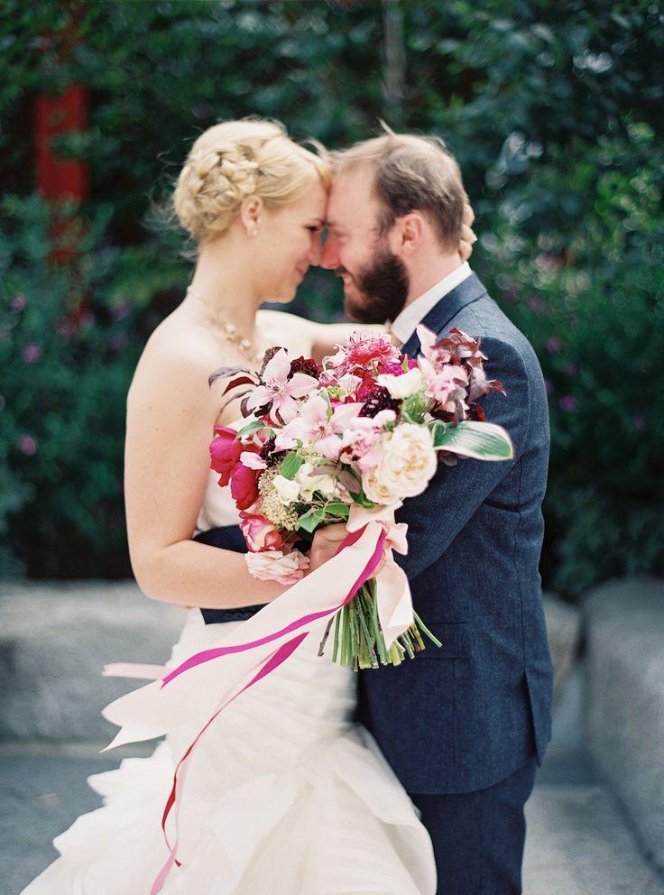 Read More: http://www.stylemepretty.com/2015/01/12/modern-san-francisco-town-hall-wedding/