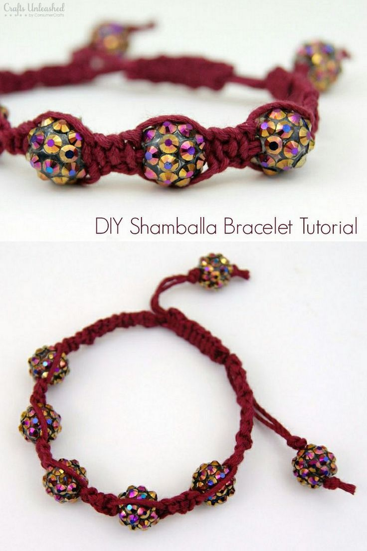 DIY Shamballa Bracelet Tutorial from Happy Hour Projects. This becomes a cheap DIY if you use inexpensive cord and beads.