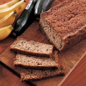 Banana Zucchini Bread - will try out a lower fat/calorie version by using applesauce for some of the oil and also cutting the sugar in half.