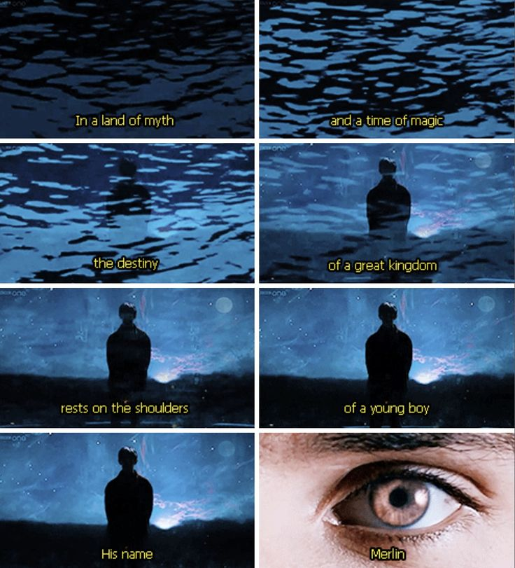 "Merlin - what I like about the intro is that further into the seasons, this part changes to say ""rests on the shoulders of a young man."" Notice how it says man instead of boy, so Merlin is growing up. Makes me so emotional!!"