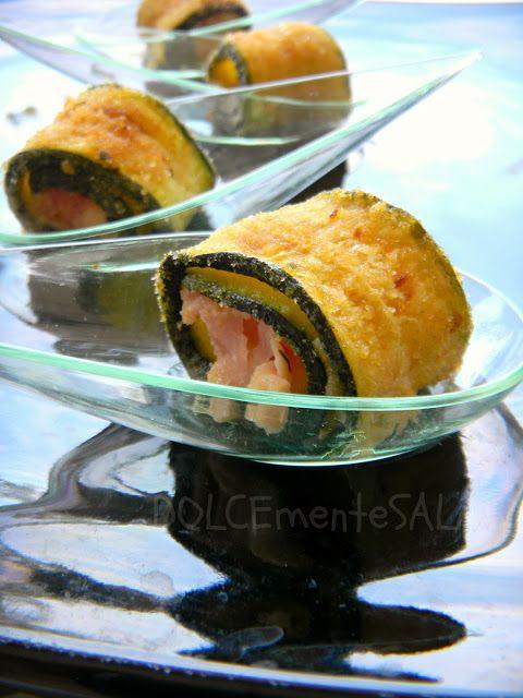 DOLCEmente SALATO: Mini involtini di zucchine al forno