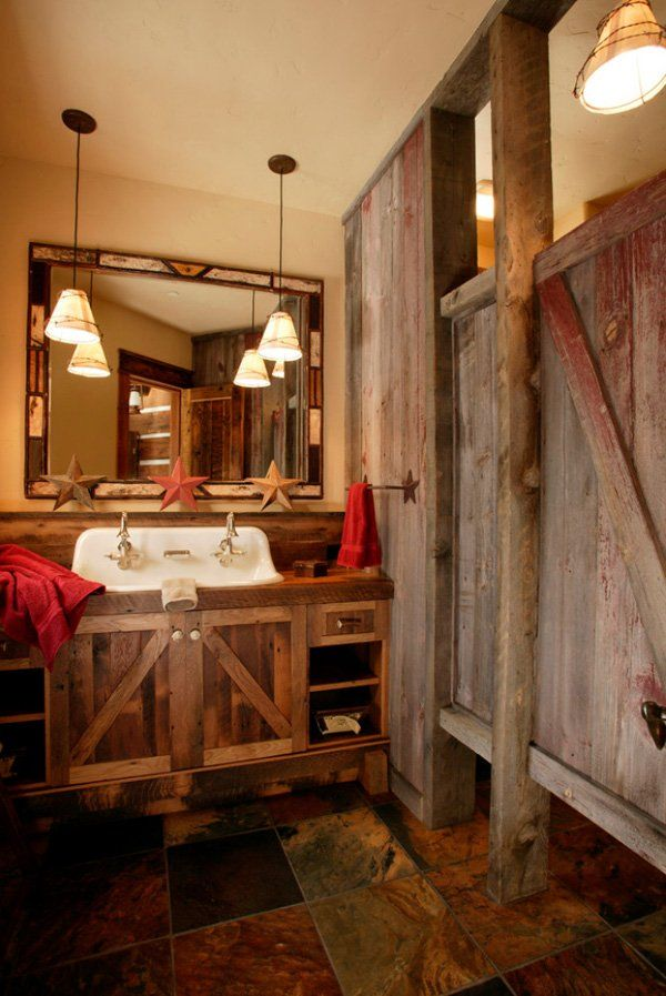 Insanely Beautiful Rustic Barn Bathrooms Eclectic Bathroomrustic Bathroom Designsbathroom