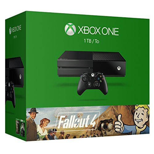 Xbox One 1 TB Console –  Fallout 4 Bundle This product includes: 1TB hard drive Xbox One Console, Fallout 4 game physical disc, Fallout 3 full-game digital download (card with a code on it in the console box), newly updated Xbox One black wireless controller with a 3.5mm headset jack so you can plug in any compatible headset, Xbox One Chat Headset, 14-day trial of Xbox Live Gold, AC Power Cable, and an HDMI Cable.Experience the next generation of open-world gaming in Fallout 4.Qui..