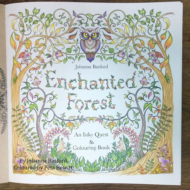 Best Images About Peta Hewitt Colouring Tutorials On Enchanted Forest Coloring Book