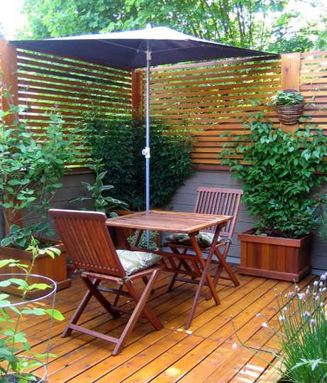 My great outdoors nancy 39 s patio veggie garden gardens for Wooden privacy walls for patios