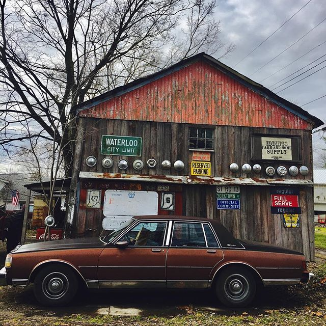 """Come back when I lose my VA benefits, then I'll be ready to sell."" ---------------------------------------------------- #rustbelt #americana #picking #hotrod #tour #ohio #usa #vsco #love #story #hometown #antique #vintage #junk #garage #rust #junkyard #scrap #flames #grandpa #explore #carnival #chevy #overgrown #signage #waterloo #indiana"