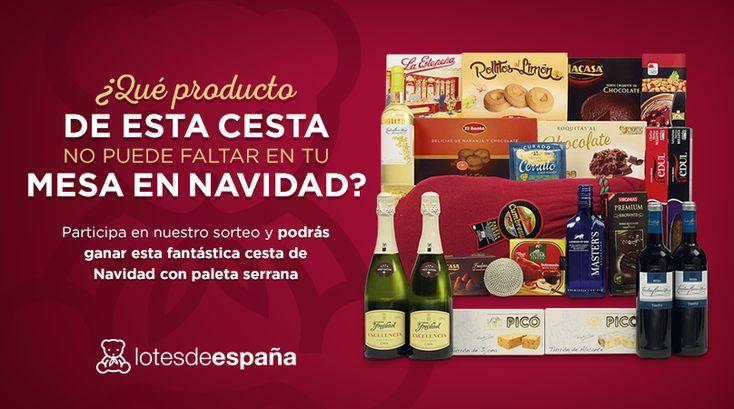 Gana una cesta de Navidad con Paleta Ibérica #sorteo #concurso http://sorteosconcursos.es/2015/11/gana-una-cesta-de-navidad-con-paleta-iberica/