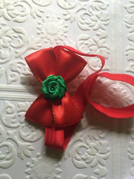 Christmas headband Christmas baby headband green and by BazzyBears
