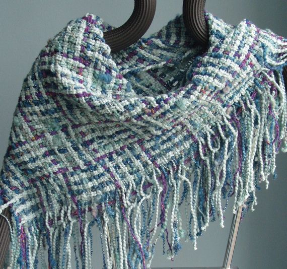 Handwoven Triangle Scarf / Shawl / Cowl / Green by barefootweaver, $78.00