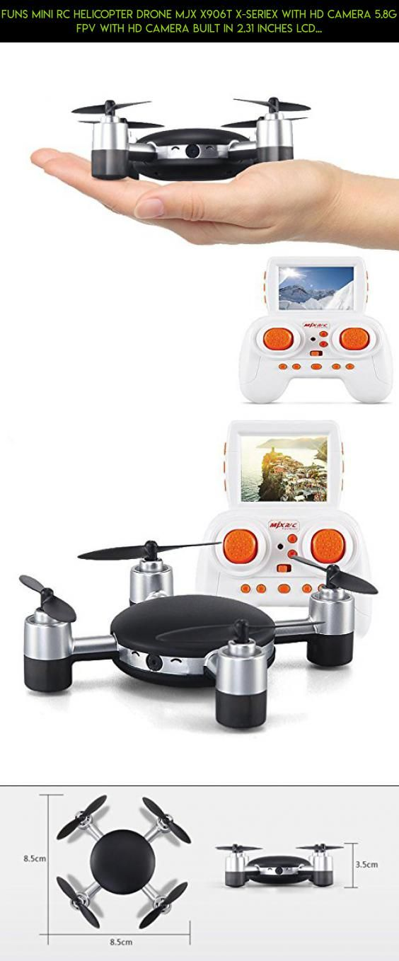FUNS Mini RC Helicopter Drone MJX X906T X-SERIEX With HD Camera 5.8G FPV With HD Camera Built in 2.31 Inches LCD Screen RC RTF Quadcopter With Headless Mode & One Key Return & 3D Flip #with #tech #kit #parts #products #gadgets #racing #plans #drone #camera #technology #gps #fpv #mjx #drones #shopping