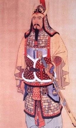 광개토대왕 표준 영정 - 이종상 作(1975년) 광개토대왕(374년-412년)은 대 정복 전쟁을 수행하여 북으로는 연나라, 남으로는 백제, 바다 건너 일본에 까지 힘을 과시했던 고구려 전성기의 영웅이다. 이 초상은 이종상 교수가 광개토대왕이 요하를 넘어 진군하는 장면을 그려보고 집안의 대왕비문을 답사한 연후에 1년 2개월 동안 고증해서 그린 작품이다. 고구려식 갑옷과 투구가 돋보이며 금색, 붉은색 등의 색감에서 대왕의 위엄이 잘 드러난다.