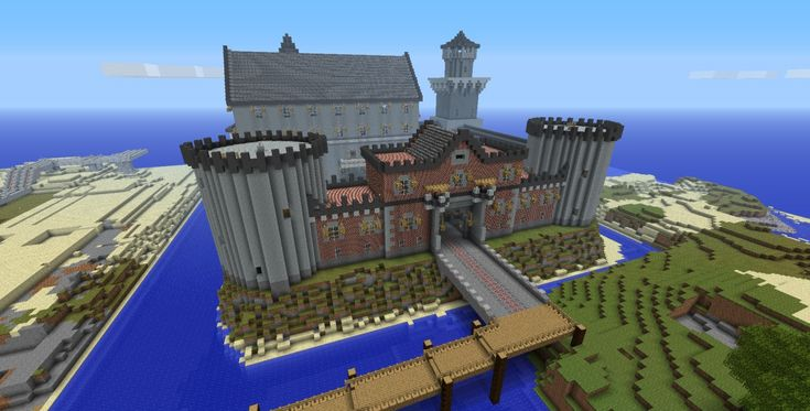awesome minecraft houses | Awesome Castle [World Save/Schematic] Minecraft Project
