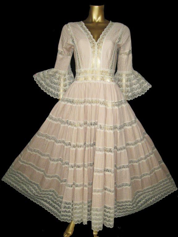 Vintage Mexican Wedding Dresses For  : Vintage mexican wedding dress fashion hair fabs