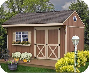 Northwood 14x10 EZup Wood Storage Shed Kit #woodshedkits #storageshedkits