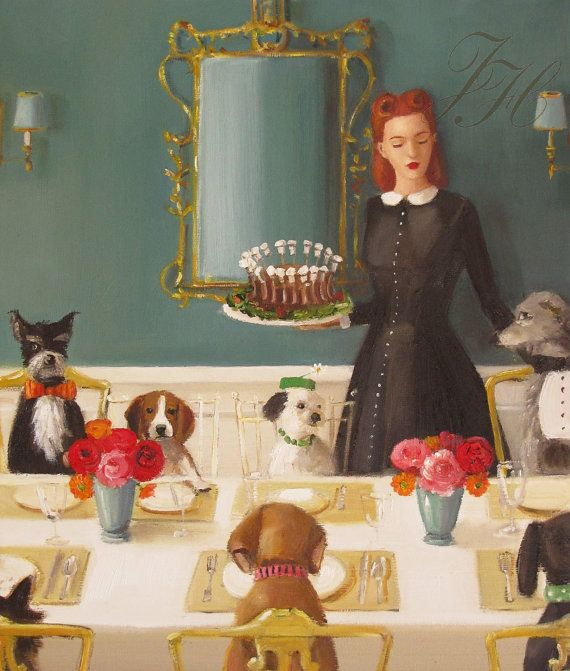 Miss Moon Was A Dog Governess  Lesson Four  A by janethillstudio, $38.00: