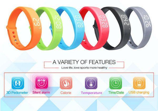 W5 Pedometer Sleep Monitor Temperature Bracelet Smart Watch USA Fast shipping #WristWatch #Fashion