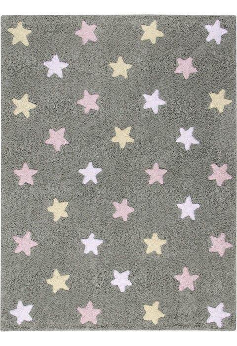 Stars Tricolor Grey-Pink