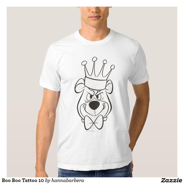 Boo Boo Tattoo 10 T-shirt #yogibear #booboo #hannabarbera