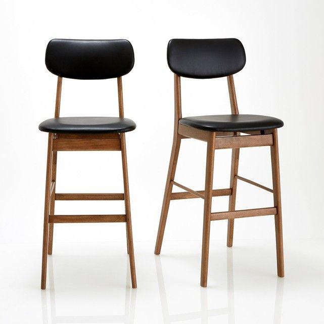 Barstoel, set van 2, Watford La Redoute Interieurs : prijs, mening en score, levering. Caractéristiques de la chaise de bar Watford :Structuur in hevea, notenhout afwerking, nitrocellulose vernis.Zitting en rugleuning gevuld met polyether mousse bekleed met zwart polyurethaan met leer aspect. .frDimensions de la chaise de bar Watford : Totaal:Breedte: 44,5 cmHauteur : 110 cmProfondeur : 61 cm.Assise :L44 x H76 x P45 cmDimensions et poids des colis :1 colis pour les 2 chaisesL120 x H...