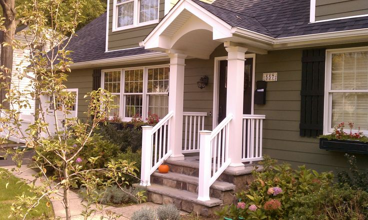 Dormer with White Square Posts and White Railing: http://www.bergendecks.com/uploads/projects/image-42.jpg