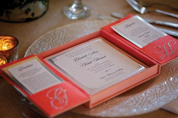 Boxes and Bling wedding invitations from Designing the Most Inviting Day in Little Egg Harbor