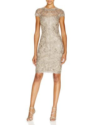 Tadashi Shoji Corded Tulle Lace Sheath Dress   Bloomingdale's