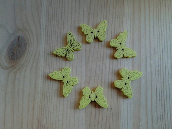 Check out this item in my Etsy shop https://www.etsy.com/uk/listing/264362715/pack-of-10-x-wooden-yellow-butterfly