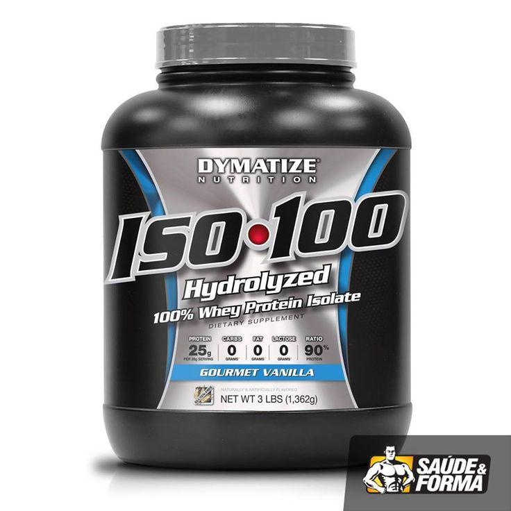 Dymatize iso-100 é uma proteína 100% de soro do leite (100% isolada) Esta proteína foi desenvolvida para atingir a perfeição. É 100% hydrolizada e instantânea e é elaborada passando por 5 etapas de qualidade. A máxima utilização proteica é essencial para a recuperação muscular e para um equilibrio de nitrogénio no sangue, o qual é critico em periodos de treinos intensos.