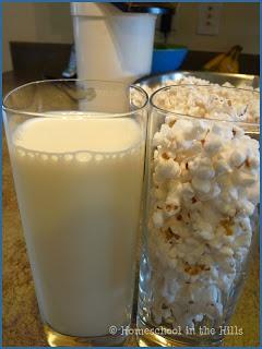 Farmer Boy: Popcorn in Milk experiment
