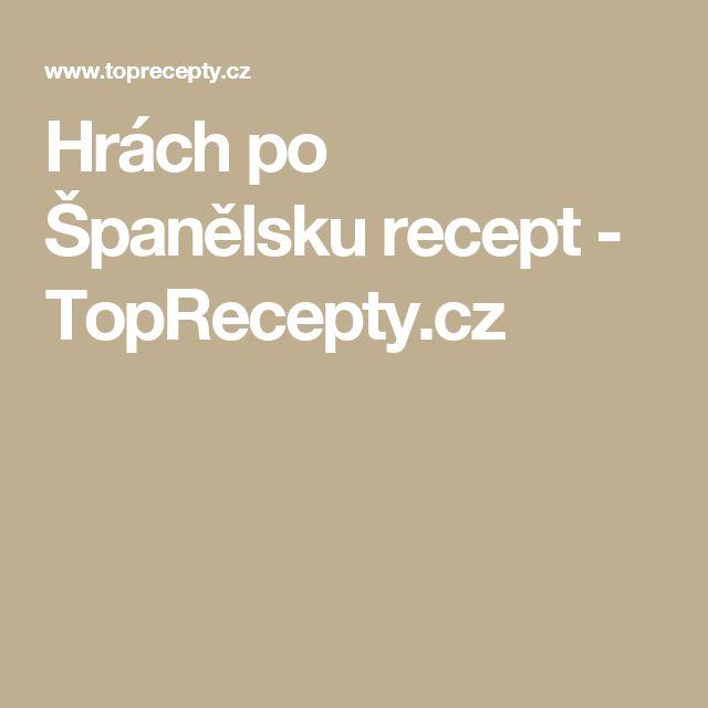 Hrách po Španělsku recept - TopRecepty.cz