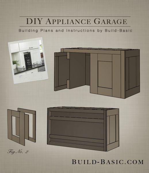 Build a DIY Appliance Garage - Building Plans by @BuildBasic www.build-basic.com