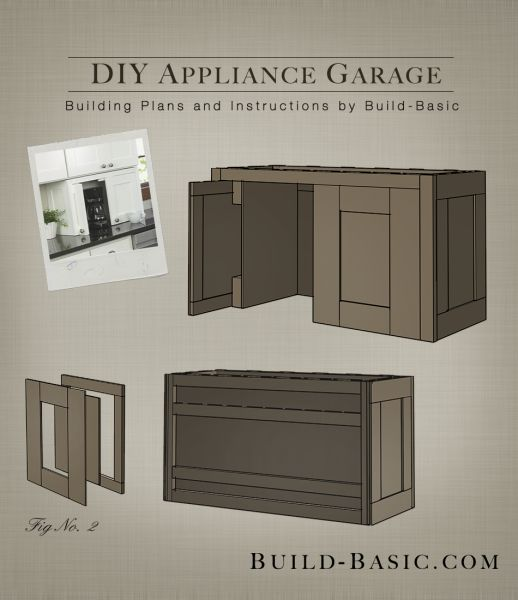Build a DIY Appliance Garage - Building Plans by @BuildBasic www.build-basic.com