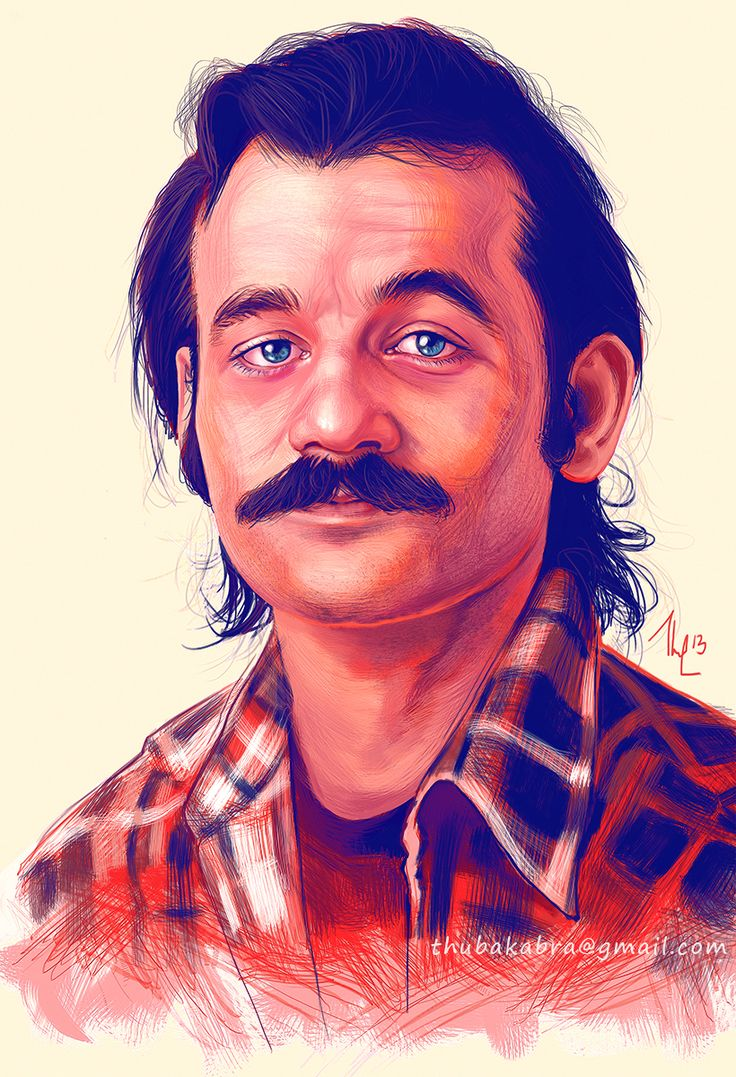 138 best retratos images on pinterest drawing portraits and artists bill murray art print young bill murray with mustache funny digital artwork fanart poster murray portrait on thick white paper hexwebz Choice Image