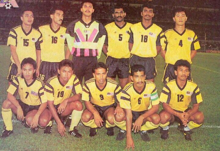 The Malaysia national football team at the Merdeka Tournament in 1993.