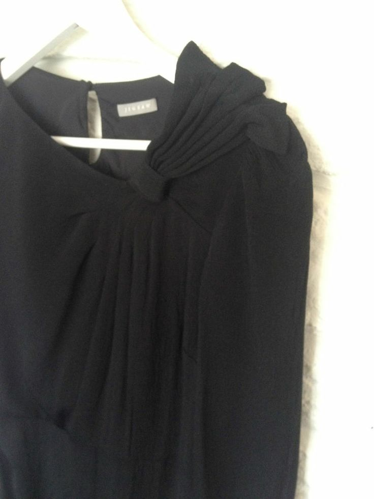 Ladies Jigsaw Black Bow Dress, Size 10 - Now Selling! Click through to go to eBay auction.