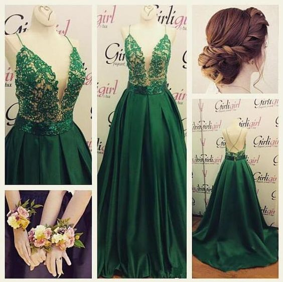 High Quality Prom Dress,Backless Prom Dresses,Sexy Green Prom Gowns,Green Prom Dresses 2017, Party Dresses 2017,Long Prom Gown,Prom Dress,Sparkle Evening Gown