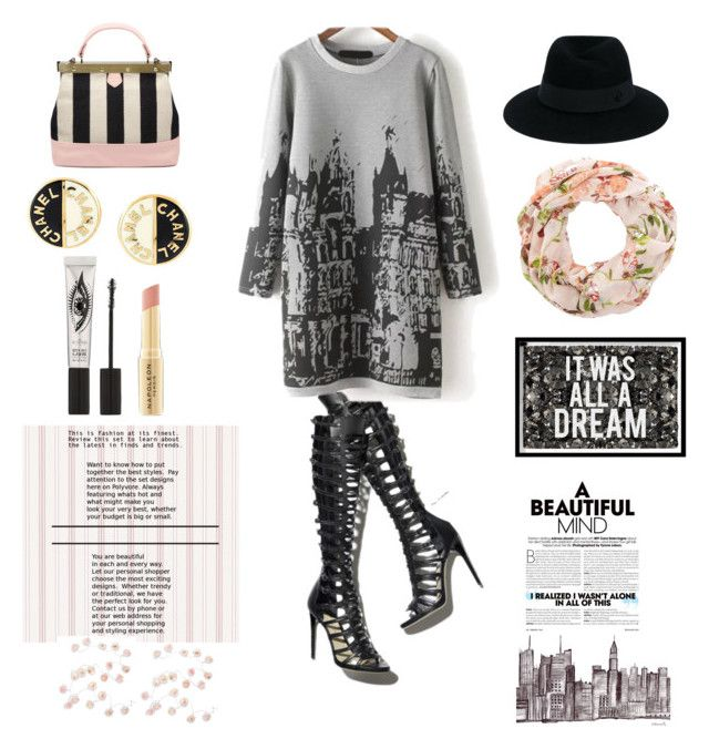 """Paris♡"" by catinthetown ❤ liked on Polyvore featuring Maison Michel, Oliver Gal Artist Co., Chanel, Eyeko, Napoleon Perdis and Talking Tables"